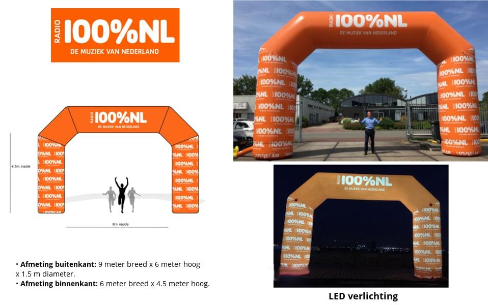 Opblaasbare Start Finish Boog Referentie project 100%NL Boog