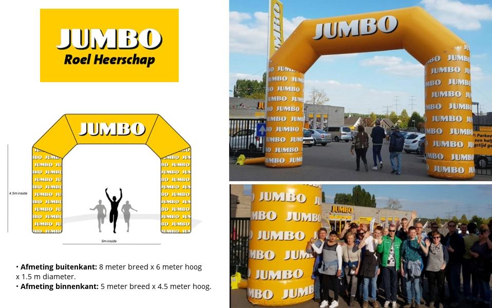Opblaasbare Start Finish Boog Referentie project JUMBO Roel Heerschap